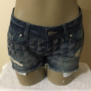 Victoria's Secret PINK Studded Distressed Shorts
